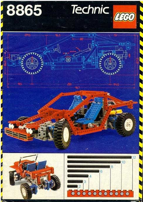 Lego Technic Test Car 8865 Review
