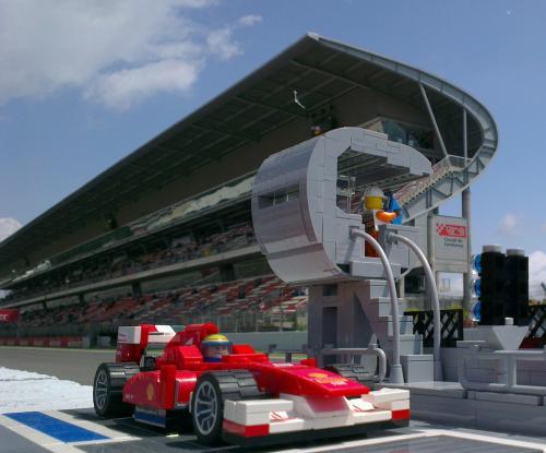 Lego ferrari F1 Circuit de Catalunya