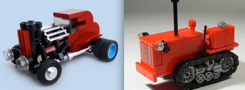 Lego Hot Rod and Tractor