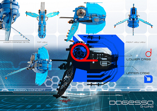 Lego D-Wing Fighter