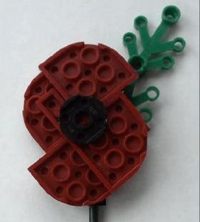 Lego Remembrance Poppy