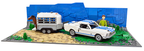 Lego Ford mustang and Horse Box