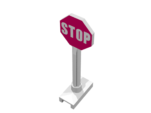 Lego Stop Sign