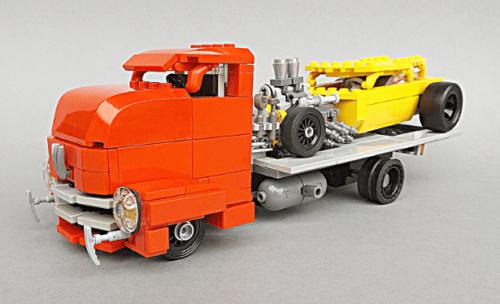 Lego Bonneville Hot Rod Transporter