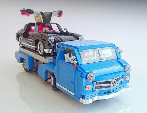 Lego Mercedes-Benz Rennwagen Schnelltransporter