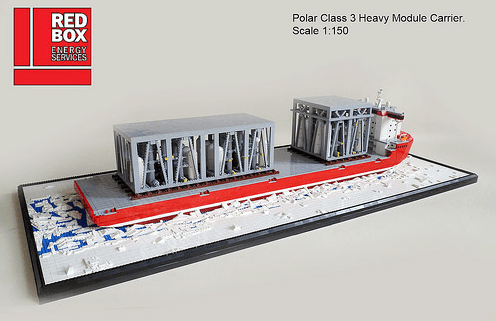 Lego Polar Ship Red Box