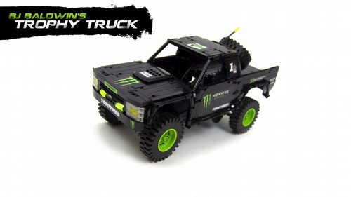 Lego BJ Baldwin's Monster Energy Chevrolet Truck