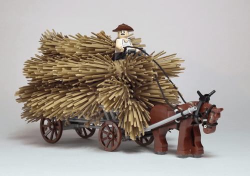 Lego Hay Cart