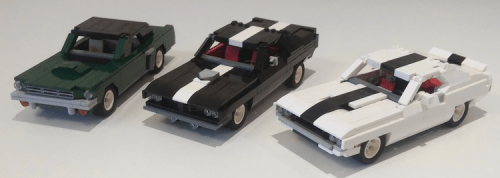 Lego Classic Muscle Cars Ford Mustang Dodge Challenger Plymouth 'Barrauda