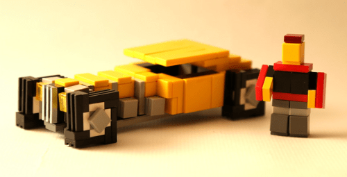 Lego Pixelated Hot Rod