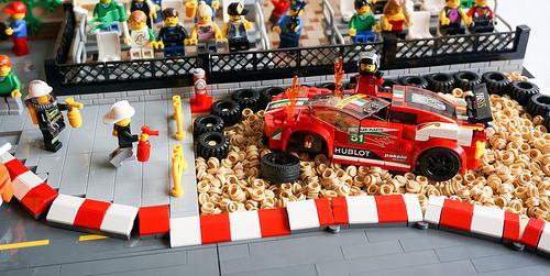 Lego Ferrari Crash
