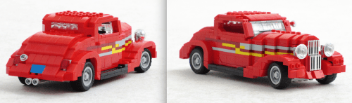 Lego ZZ Top Eliminator Car Ford Coupe