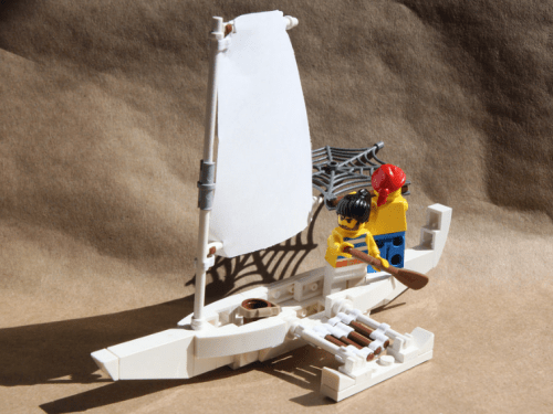 Lego Outrigger Boat