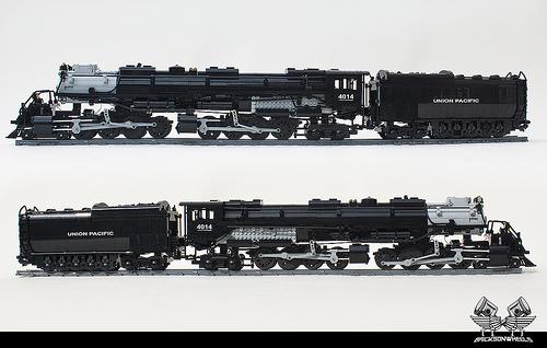 Lego Big Boy Steam Train Bricksonwheels