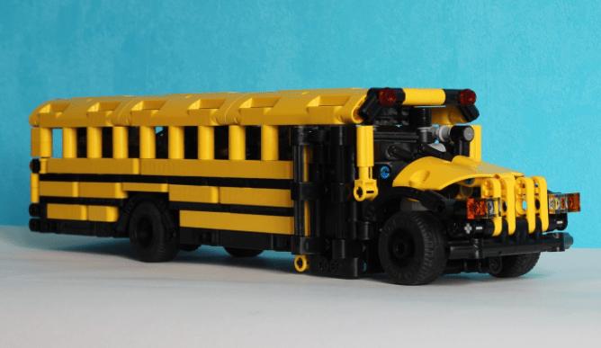 Lego Technic Remote Control School Bus