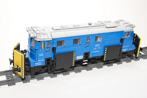 Lego Snow Plow Train