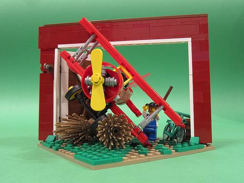 Lego Plane Barn