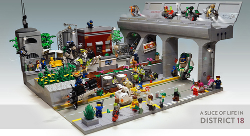Lego District 18 Sci-Fi City