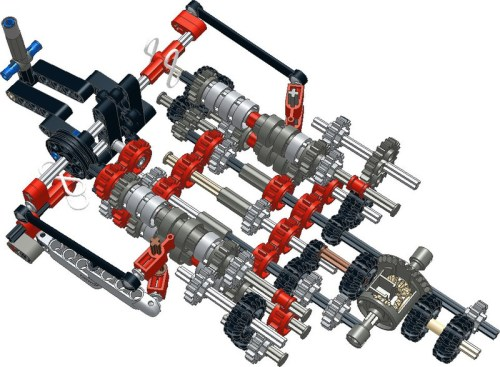 Lego Technic Sequential Gearbox Instructions