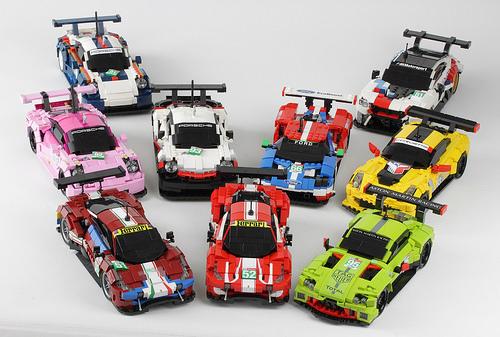 Lego Le Mans 2018 GTE PRO Grid