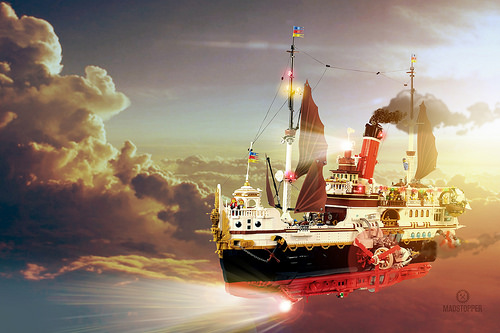 Lego Skytanic Steampunk Ship
