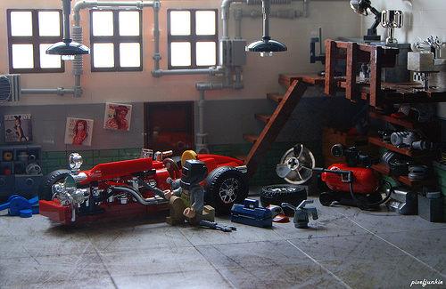 Lego Vintage Garage