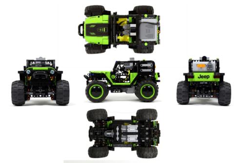 Lego Jeep Wrangler Trailcat Remote Control 4x4