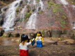 Stopping at a nearby waterfall for a picture