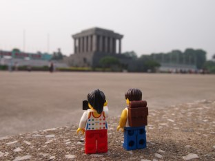 Day sightseeing in Hanoi, first stop at the Ho Chi Minh Mausoleum