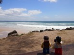 At Belongil Beach watching the surfers
