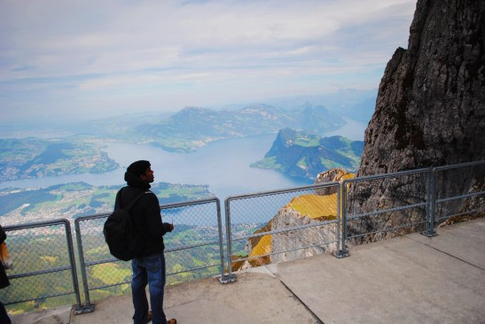 The view from the top of Mt. Pilatus.