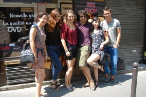 India's coworks: Roberta, Orillia, Ariane, me, India, Luis. Probably not spelling it right.