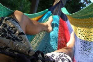 My Mayan hammock seats 3 people.