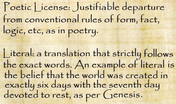 Poetic License >> Literal Or Poetic License The Order Of Thelemic Knights