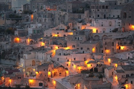 A typical village in Basilicata, southern Italy