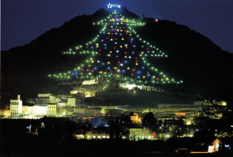 Christmas lights in Gubbio, Umbria