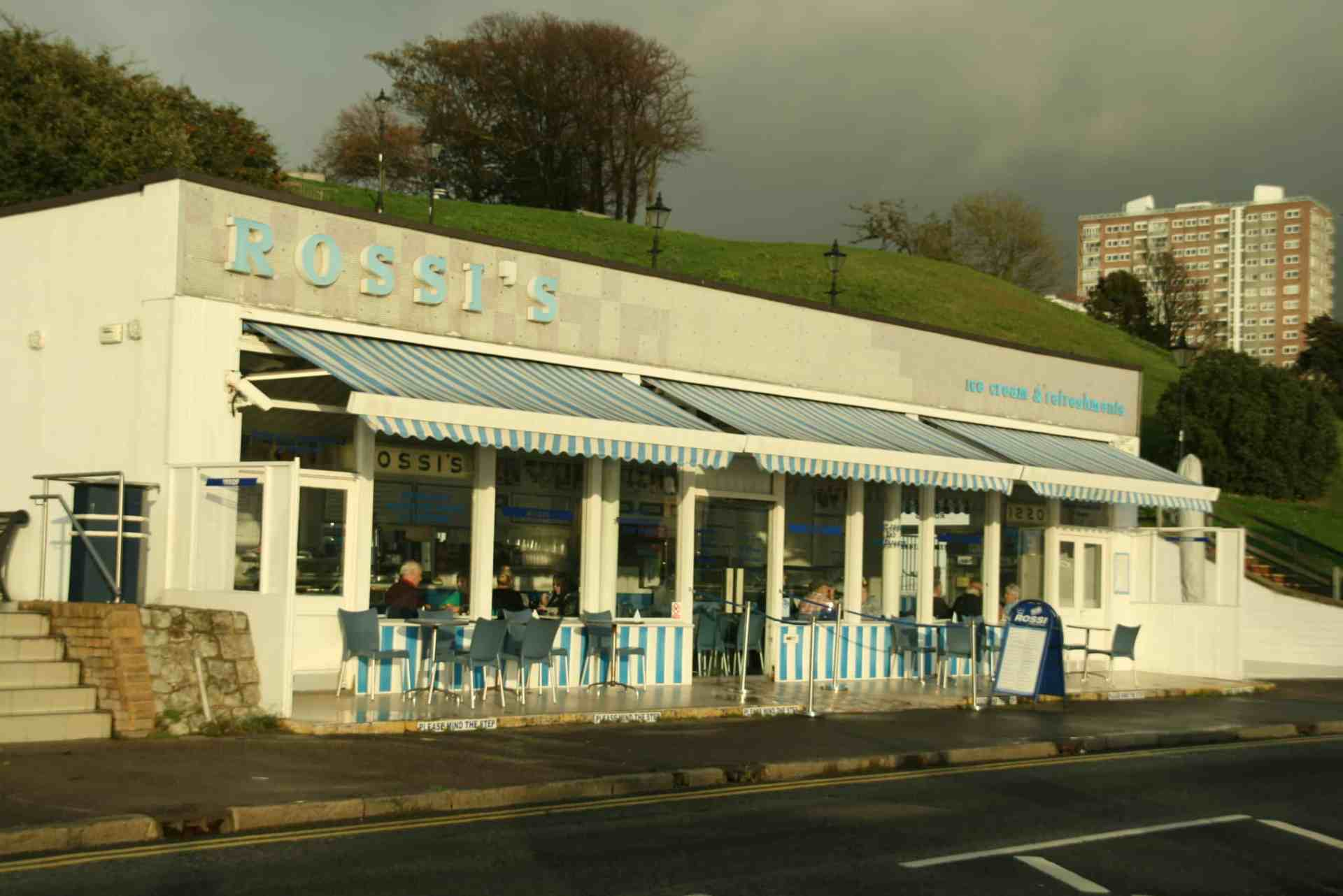Rossi's ice cream parlour in Southend