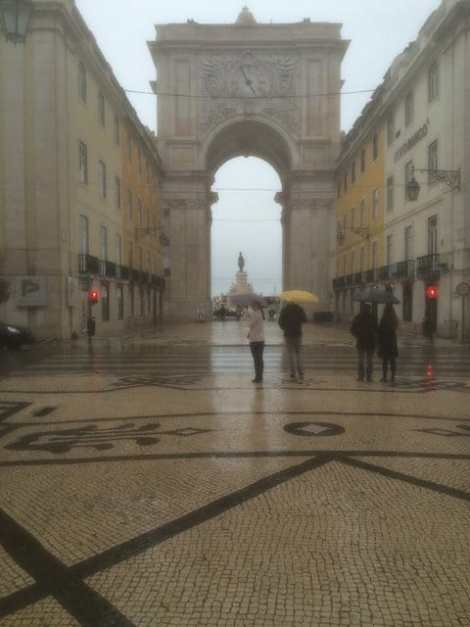A rainy afternoon in Lisbon