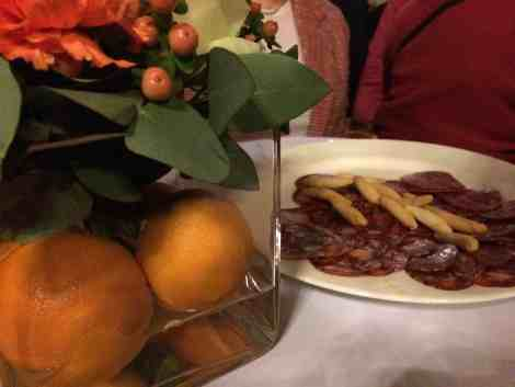 Seville oranges and Ibérico cured meats