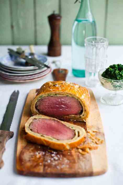 Beef en croute made with pancakes