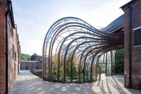 Glasshouses at the Bombay Sapphire distillery