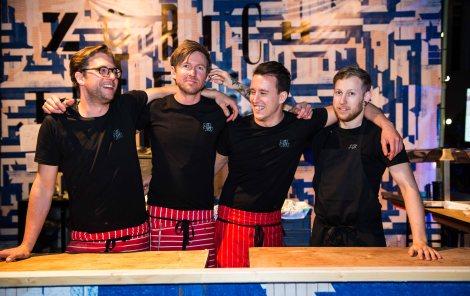 Fabian Spiquel, (second left) head chef at the Michelin starred Maison Manesse in Zurich