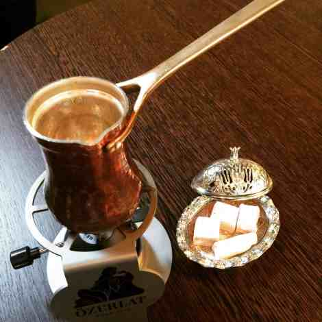 To make proper Turkish coffee you'll need a Cezve, a small pot often made of copper