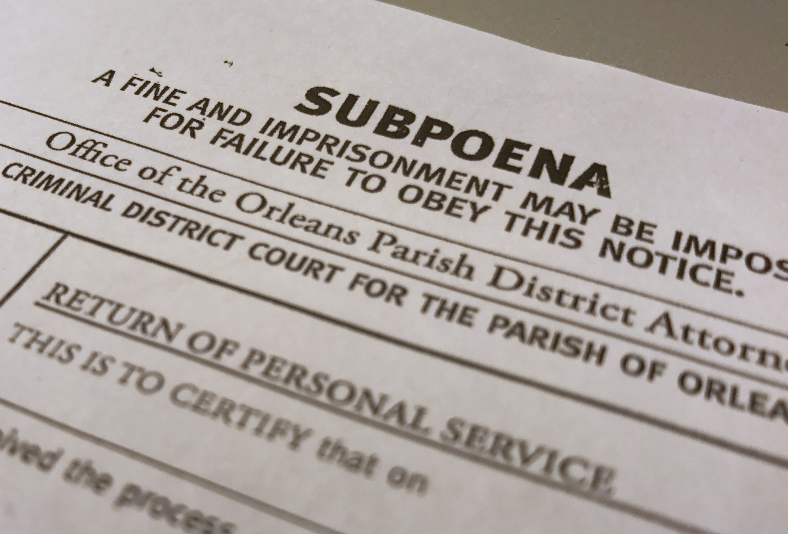DA's office settles all claims in civil rights suit over use of fake subpoenas