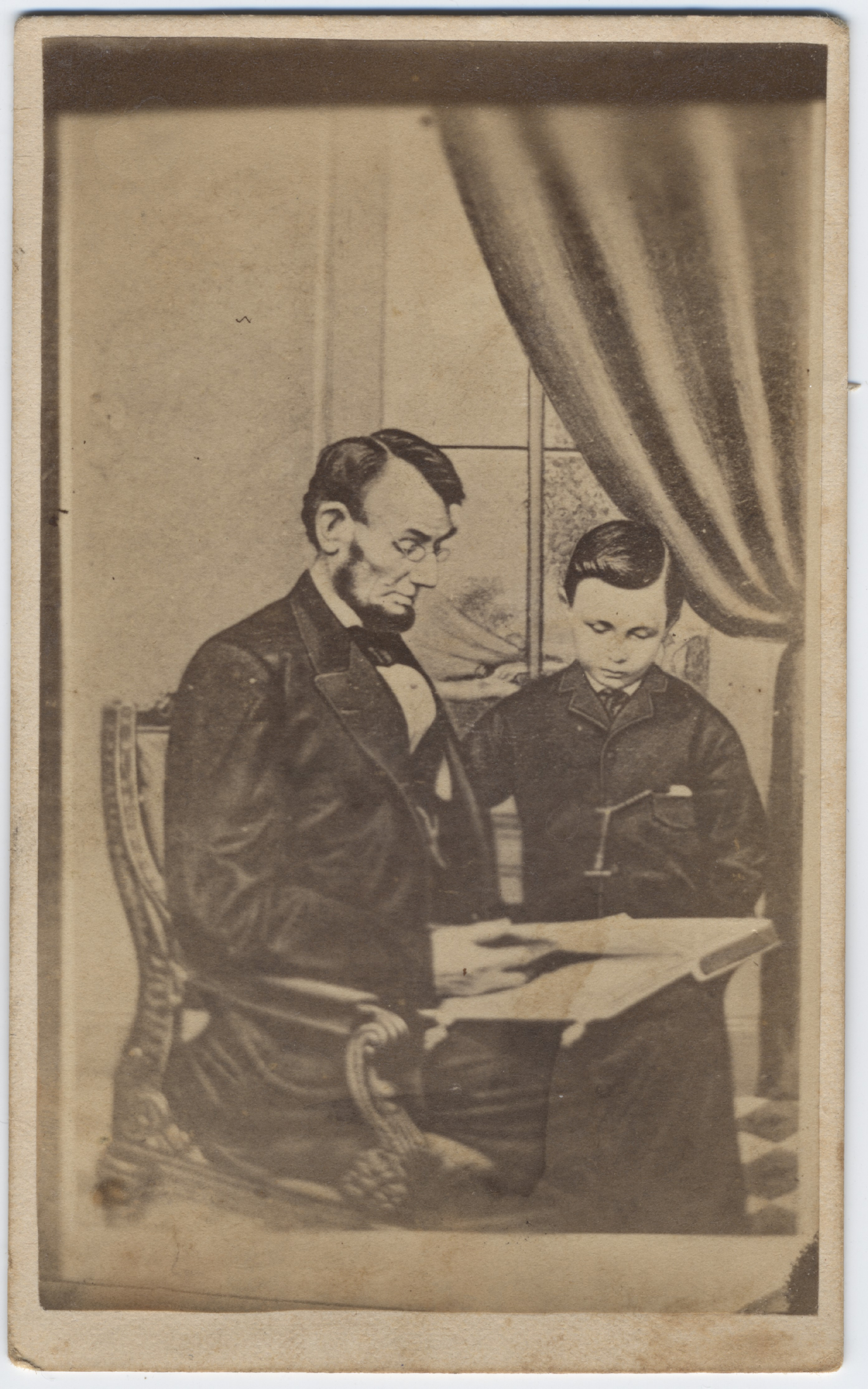 President Lincoln With Son Tad