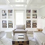 Coffered Ceiling Built In Bookcase Living Room Contemporary