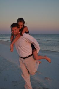 Eric and Ally on the beach at Dauphin Island.