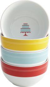 CAKE BOSS Cake BossTM Set of 4 Porcelain Ice Cream Bowls - Mini Cakes • JCPenney • $19.99
