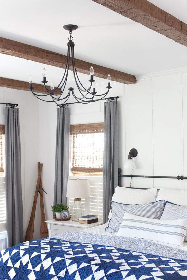 Master Bedroom Update Faux Wood Beams The Lettered Cottage