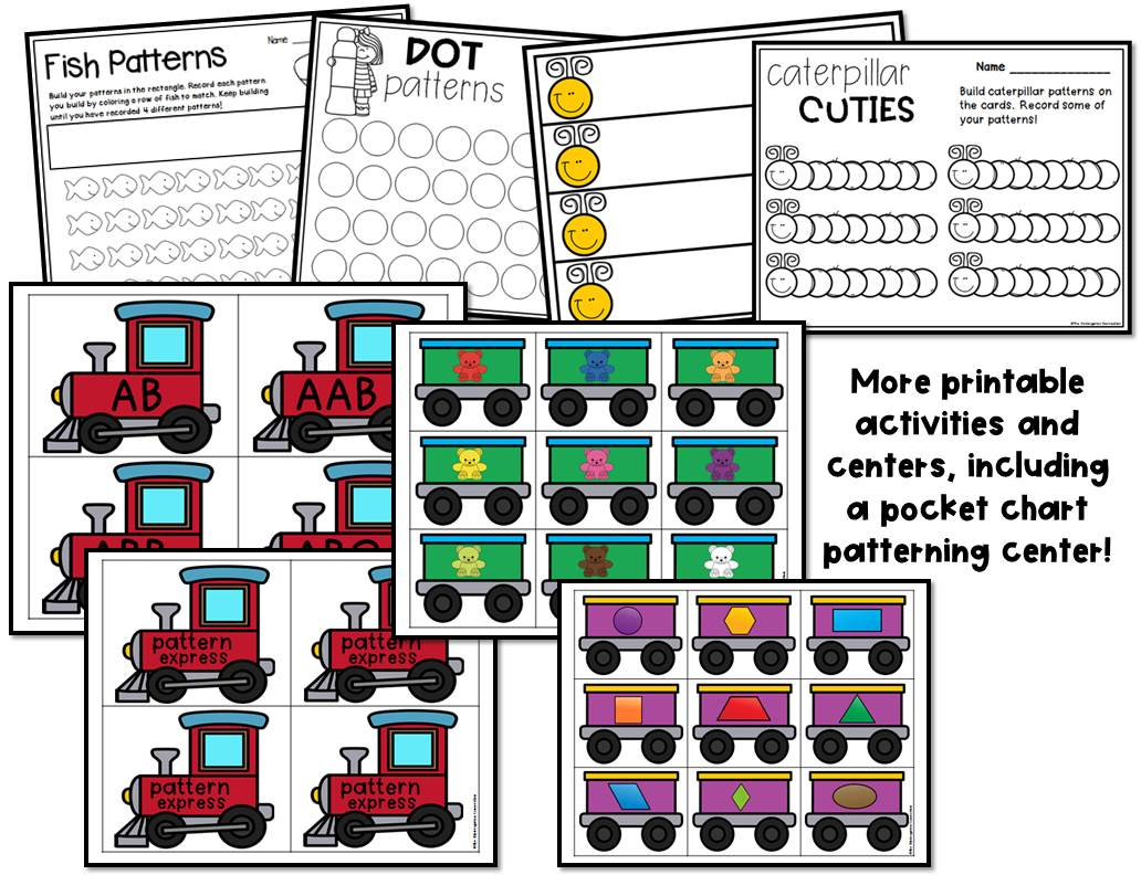 Pattern Centers And Activities For Pre K And Kindergarten